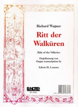 Walkürenritt von Richard Wagner Noten für Orgel
