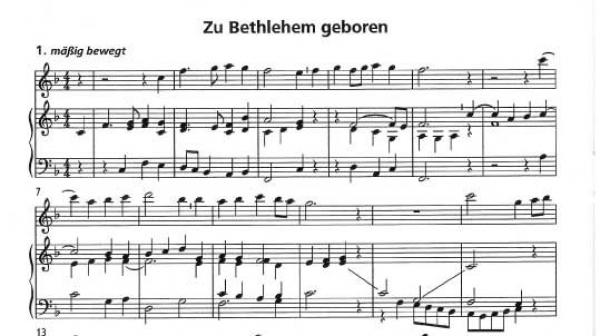 Flöten Noten Weihnachtslieder.Zu Bethlehem Geboren Spielmusiken über Alte Deutsche Weihnachtslieder Für Flöte Und Orgel