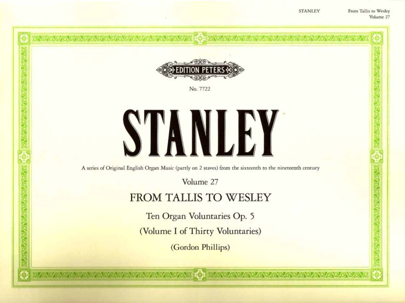 Stanley Organ Voluntaries Op 5